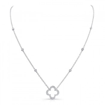18K White Gold Diamond Necklace LVNM04