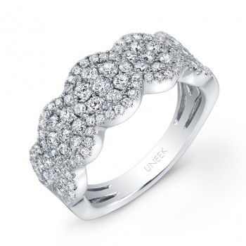 Bouquet Collection 14K White Gold Diamond Band LVR114