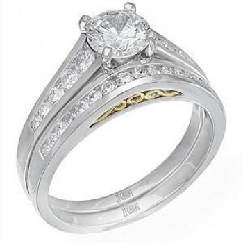 Beautiful Complete Diamond Wedding Set by Zeghani