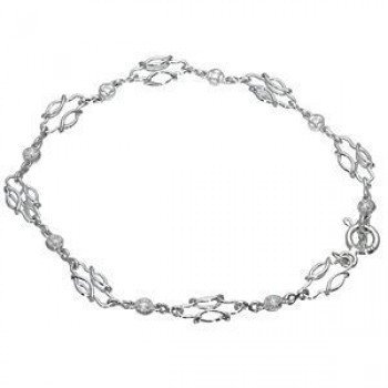 Beautiful Zeghani Diamond Bracelet in 14k White Gold