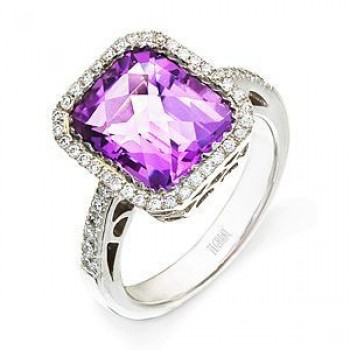 Stunning Zeghani Amethyst and Diamond Ring