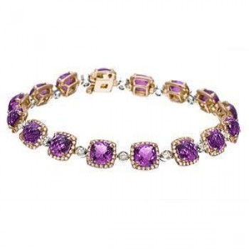 Beautiful Zeghani Amethyst and Diamond Bracelet