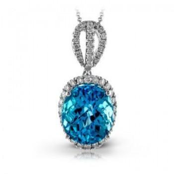 Exquisite Zeghani Blue Topaz Pendant