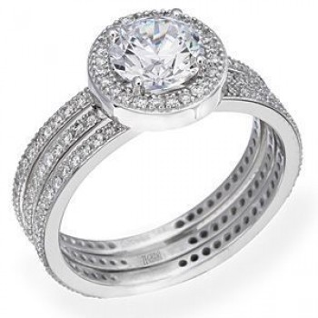 Beautiful Diamond Wedding Set by Zeghani