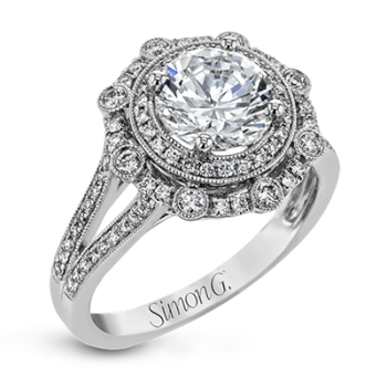 18K WHITE GOLD, WITH WHITE DIAMONDS. NR525 - ENGAGEMENT RING