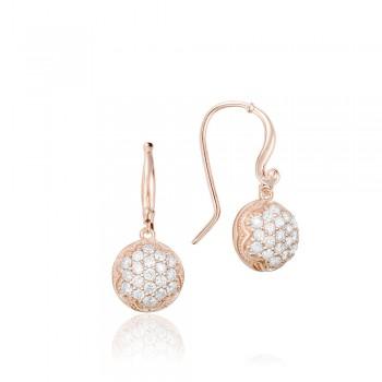 Dew Drop Earrings featuring Pavé Diamonds SE205P