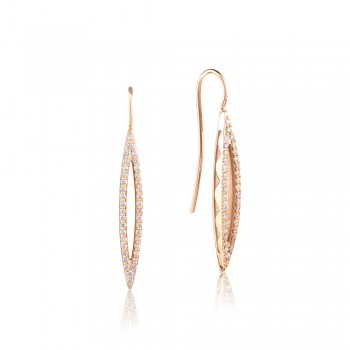 Pavé Surfboard French Wire Earring SE218P