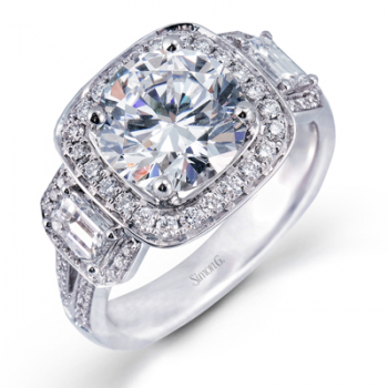 18K WHITE GOLD, WITH WHITE DIAMONDS. TR396 - ENGAGEMENT RING