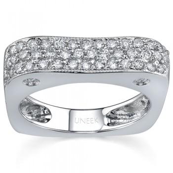 Wedding Band 18K White Gold and Pave Diamond WB072