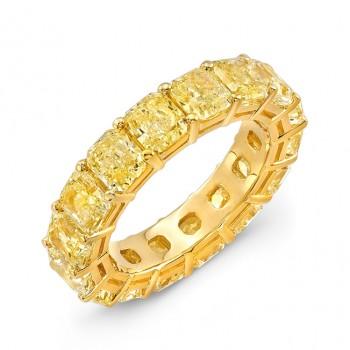 Uneek Natureal Yellow Diamond Eternity Band LVB162